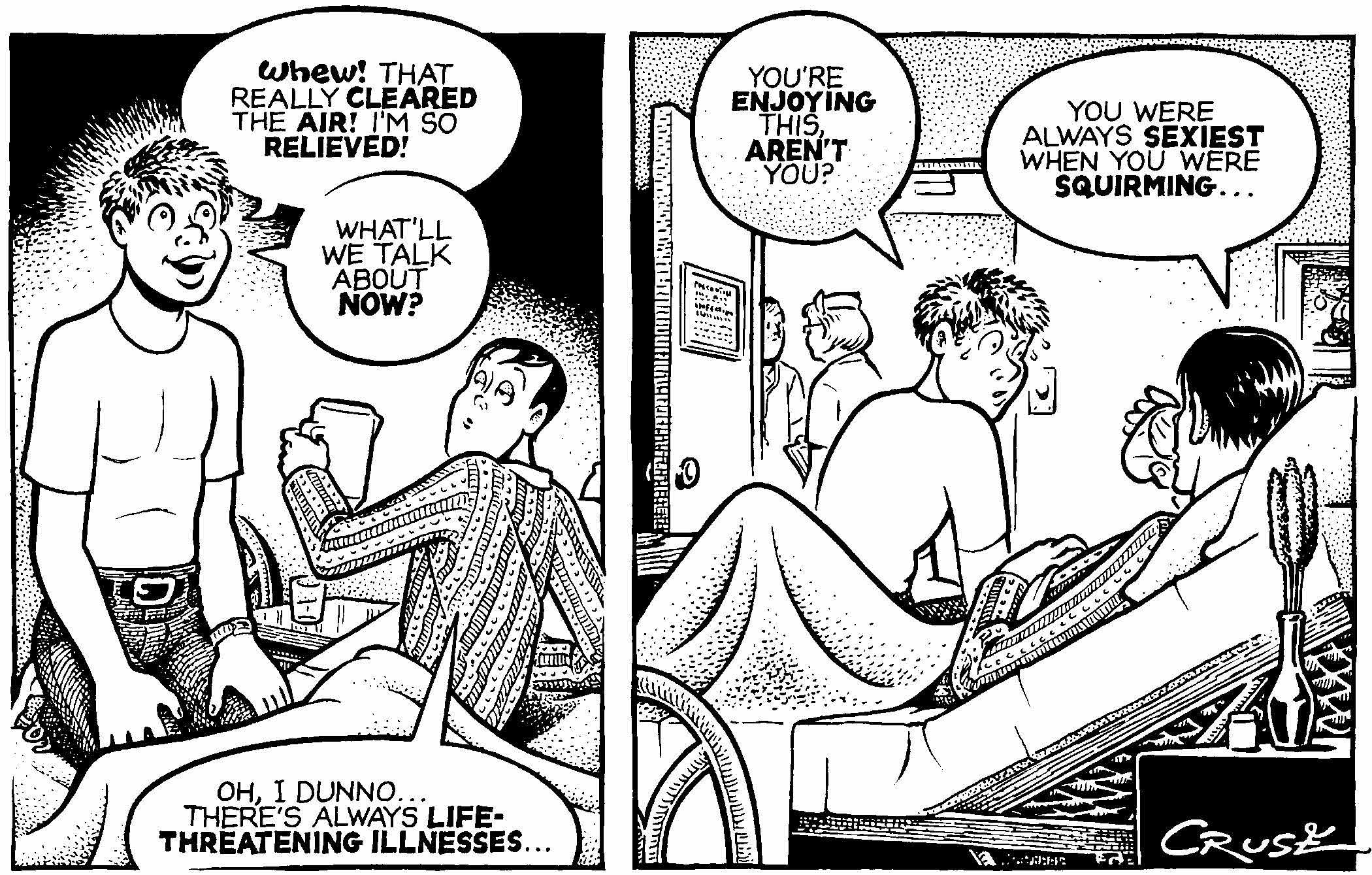 Lesbian cartoon strips